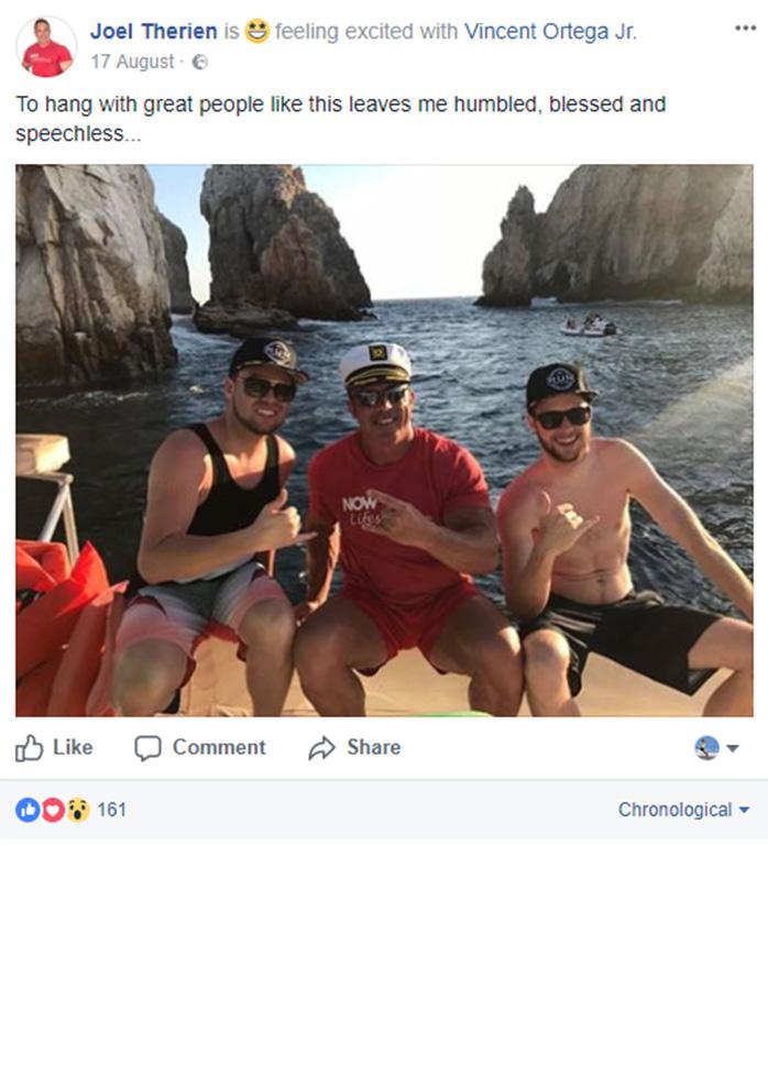 Joel Therien Facebook Post